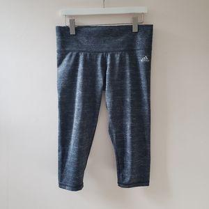 NWOT, Adidas Iron Heather Climalite Capris, L